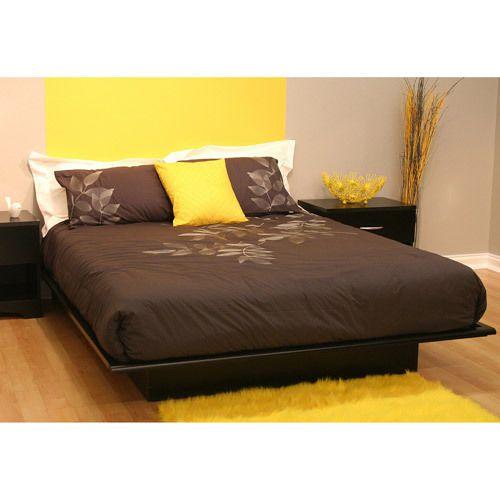 twin full queen king size platform bed frame modern black bedroom rh pinterest ca