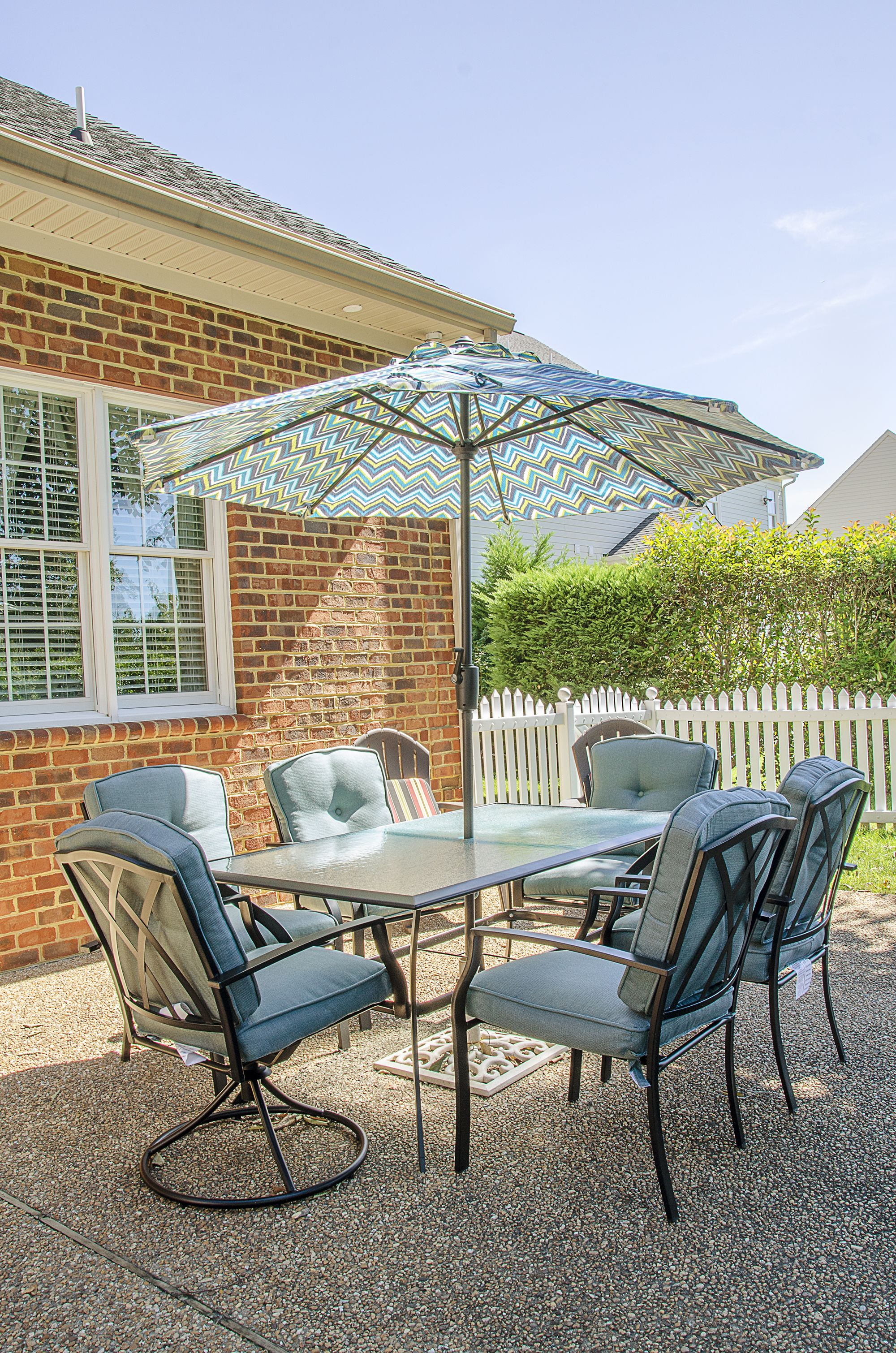 outdoor living patio set up by balducci exteriors balducci rh pinterest ca