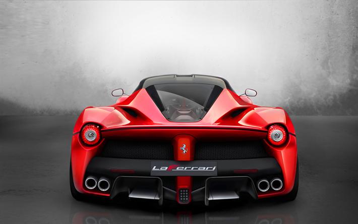 Download Wallpapers Ferrari Laferrari 4k 2017 Cars Back View
