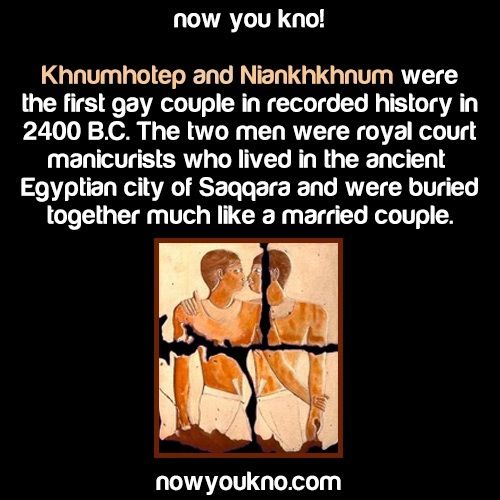 First Gay couple in recorded history #historyfacts