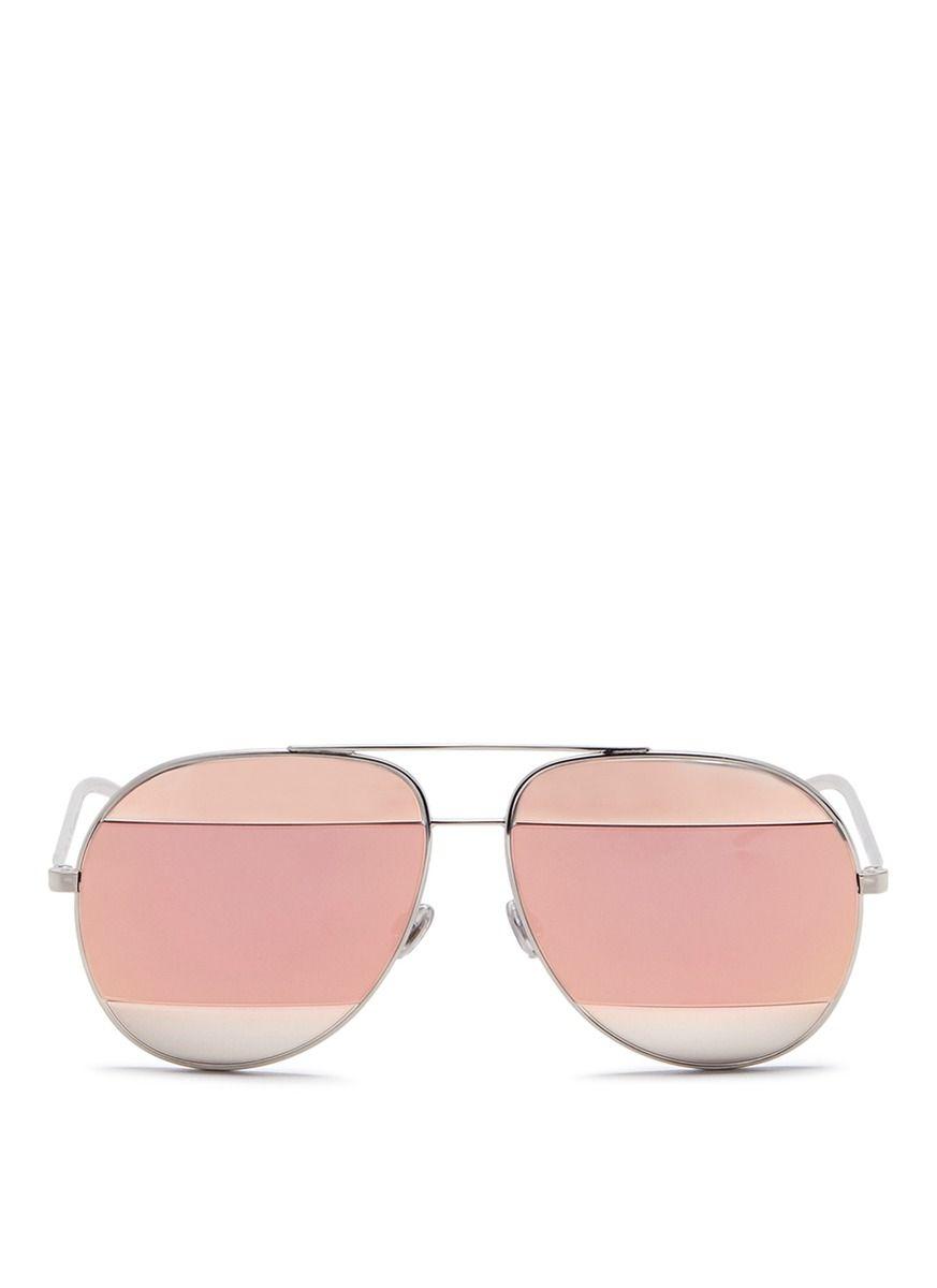 Dior Split  Inset Metal Aviator Mirror Sunglasses   Pinterest 2f8951d7d58b