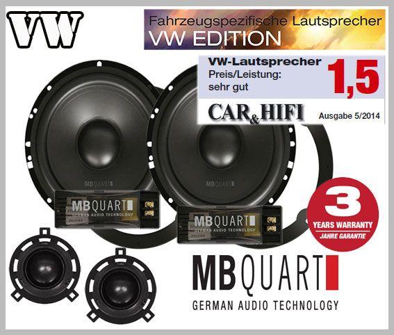 VW Scirocco III Lautsprecher Paar Testsieger vordere Türen QM165 VI ...