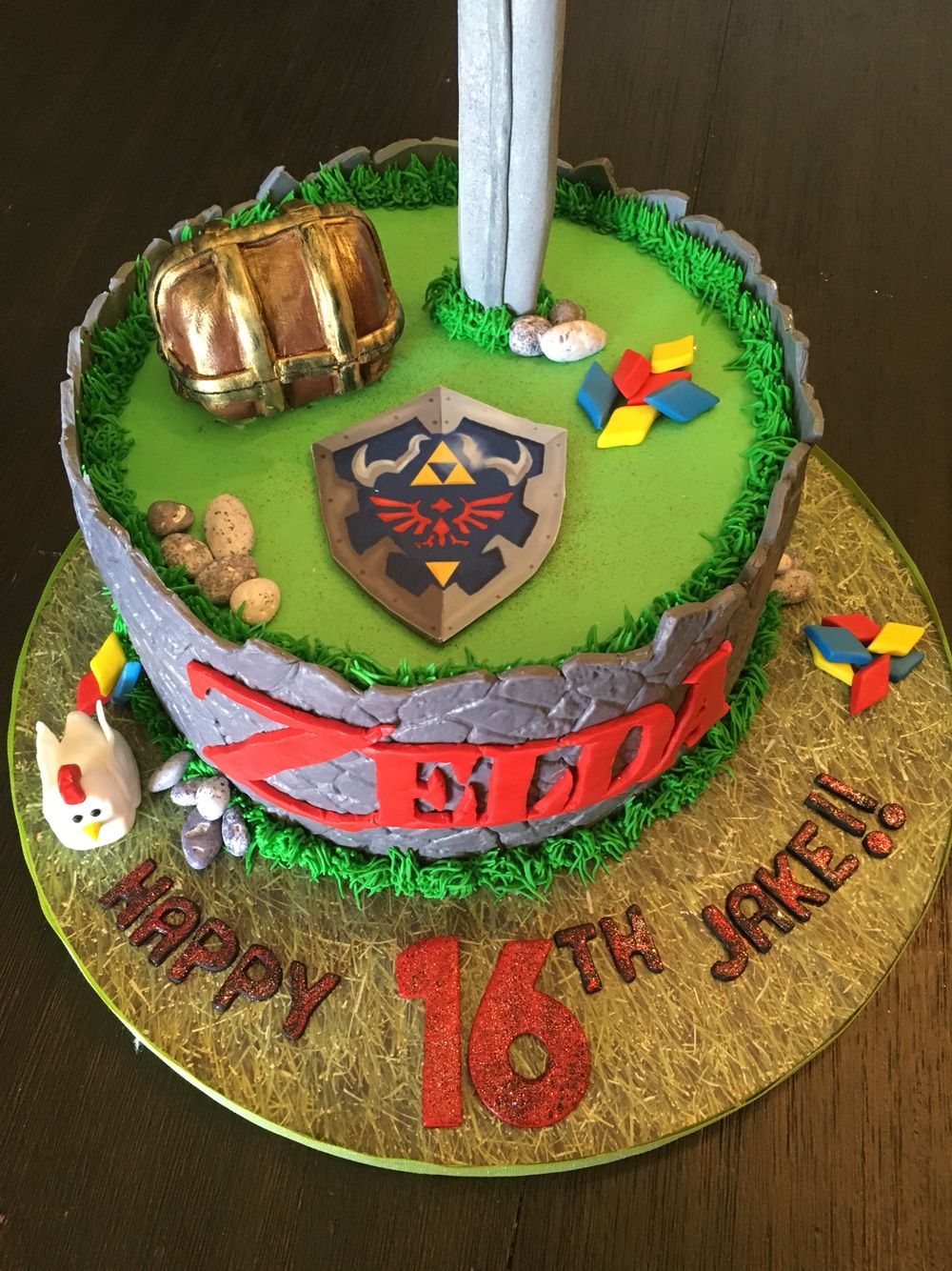 Remarkable Zelda Cake Zelda Cake Zelda Birthday Nintendo Cake Funny Birthday Cards Online Elaedamsfinfo