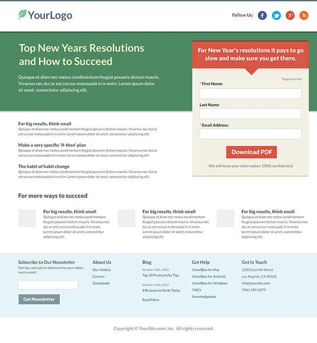 Free landing page templates | Landing Page Examples | Pinterest ...