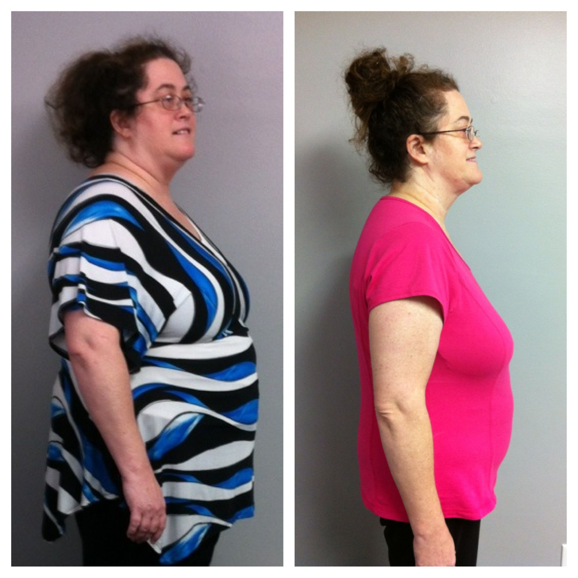 Mrs. Gail has lost 50lbs and 110 inches in 18 weeks! :)