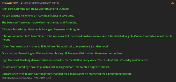 43++ Saurfang cleave info