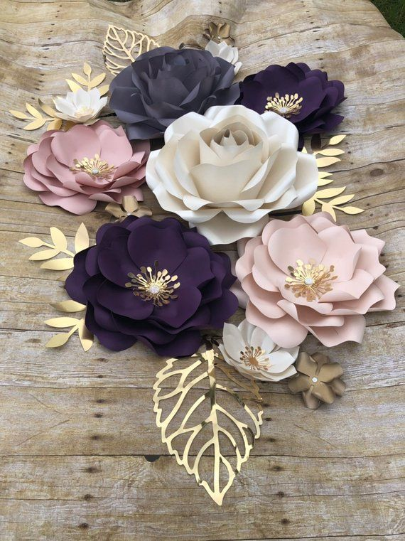 Paper Flowers Backdrop set of 16 items