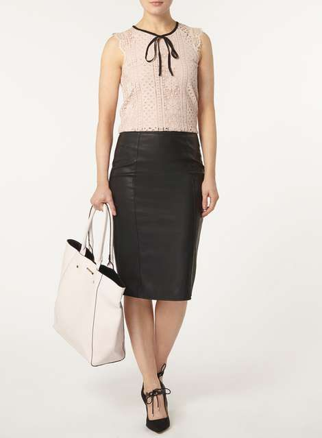 Blush Tie Eyelash Lace Top - Last Chance To Buy - Sale & Offers - Dorothy Perkins