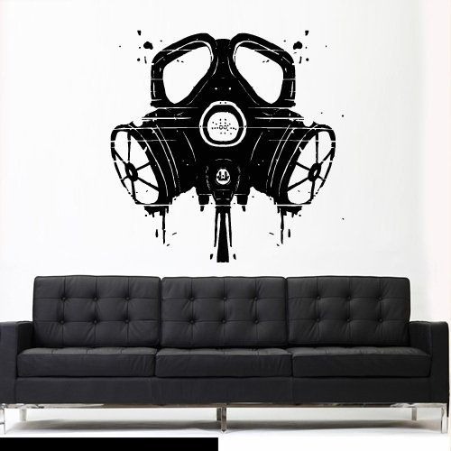 Wall Decal Vinyl Sticker Decals Gas Mask Respirator Kids Nursery Horror Zombie Head Z2751 ** This is an Amazon Affiliate link. You can find out more details at the link of the image.