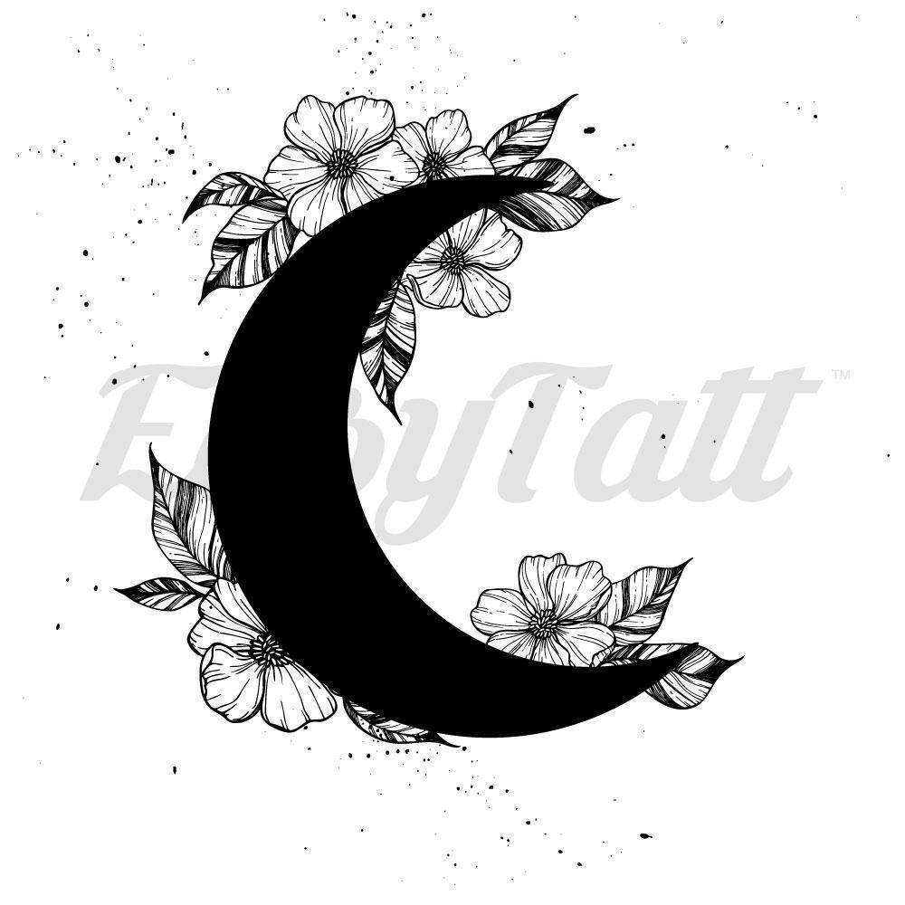 Black Floral Moon