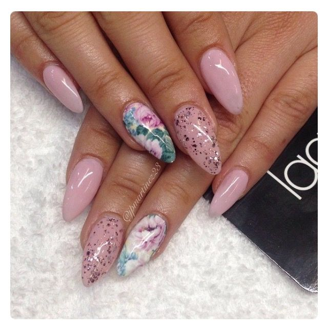 Girly Pink Nails Nails And Such In 2018 Pinterest Pink Nails