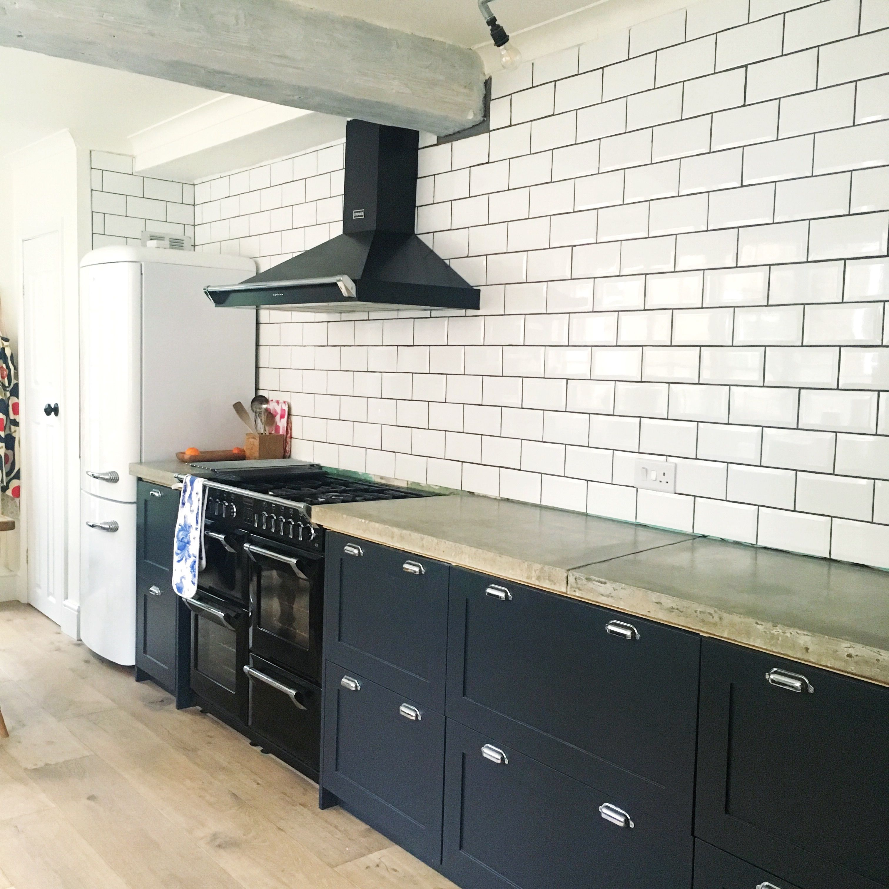 Our kitchen (almost finished) - shaker cupboards in Farrow & Ball ...