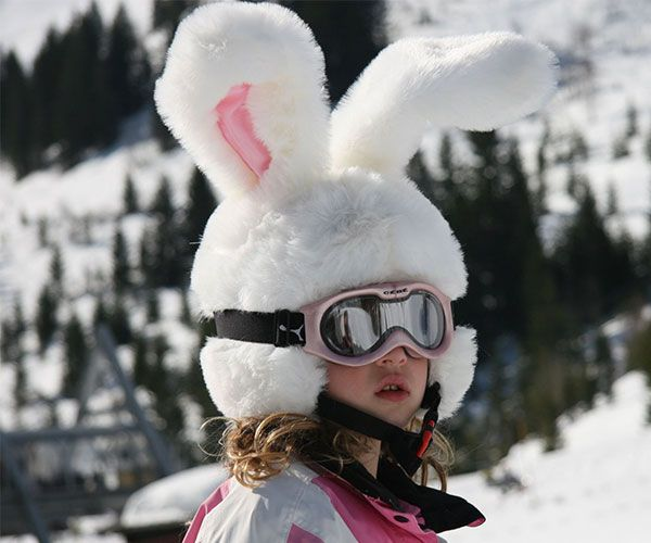 Big Ears Rabbit Ski Helmet Cover - #Cool #Skiing | CoolShitiBuy.com