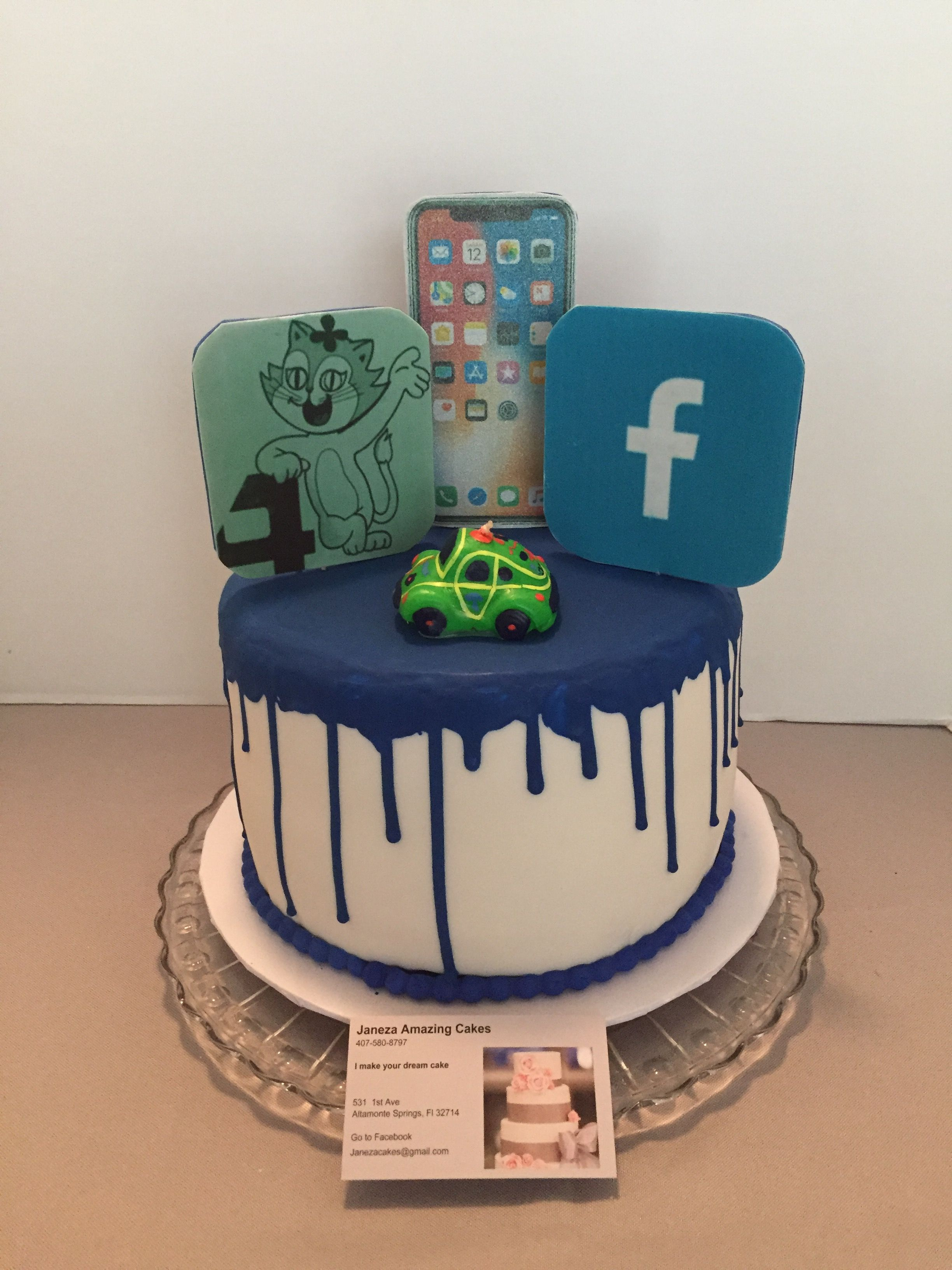 Surprising Apps Cake With Images Cake Amazing Cakes Birthday Cake Kids Personalised Birthday Cards Xaembasilily Jamesorg