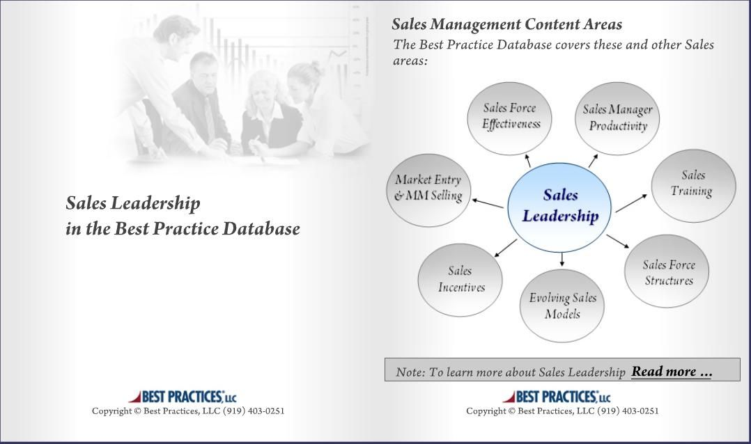 Sales leadership database consists of qualitative research, which