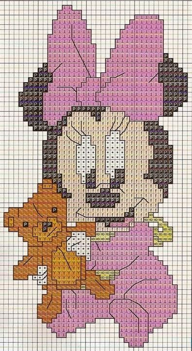 Little minnie mouse | cross stitch | Pinterest | Häkeln anleitung ...