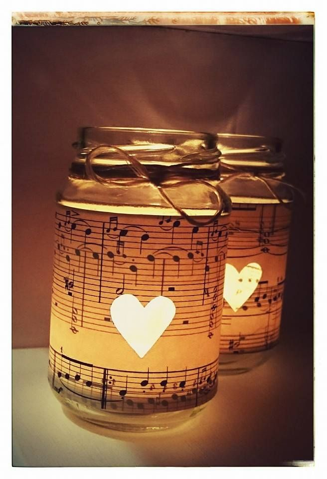 notenbl tter teelicht gl ser candle light glass with sheet music paper be my valentine. Black Bedroom Furniture Sets. Home Design Ideas
