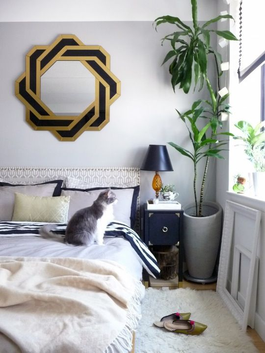 Colores: Gris + azul + dorado Muebles: Fabian + Magy Cabecera: Proyecto DIY Tapete: Shaggy + Blanco Pared: Gris + listón al techo