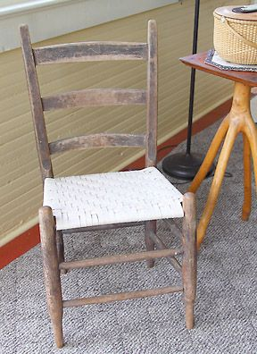 Chair Stool With Back How To Hang Hammock Free Online Instructions For A Ladder Seat Weaving Flat Reed Sometime In The Early 1980s Lestel Childress