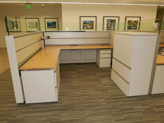Used Knoll Autostrada Office Cubicles in Dallas Texas. Mid height ...