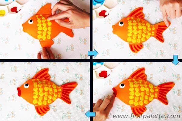 3d Goldfish Bowl Craft Kids Crafts Firstpalette Com Pets