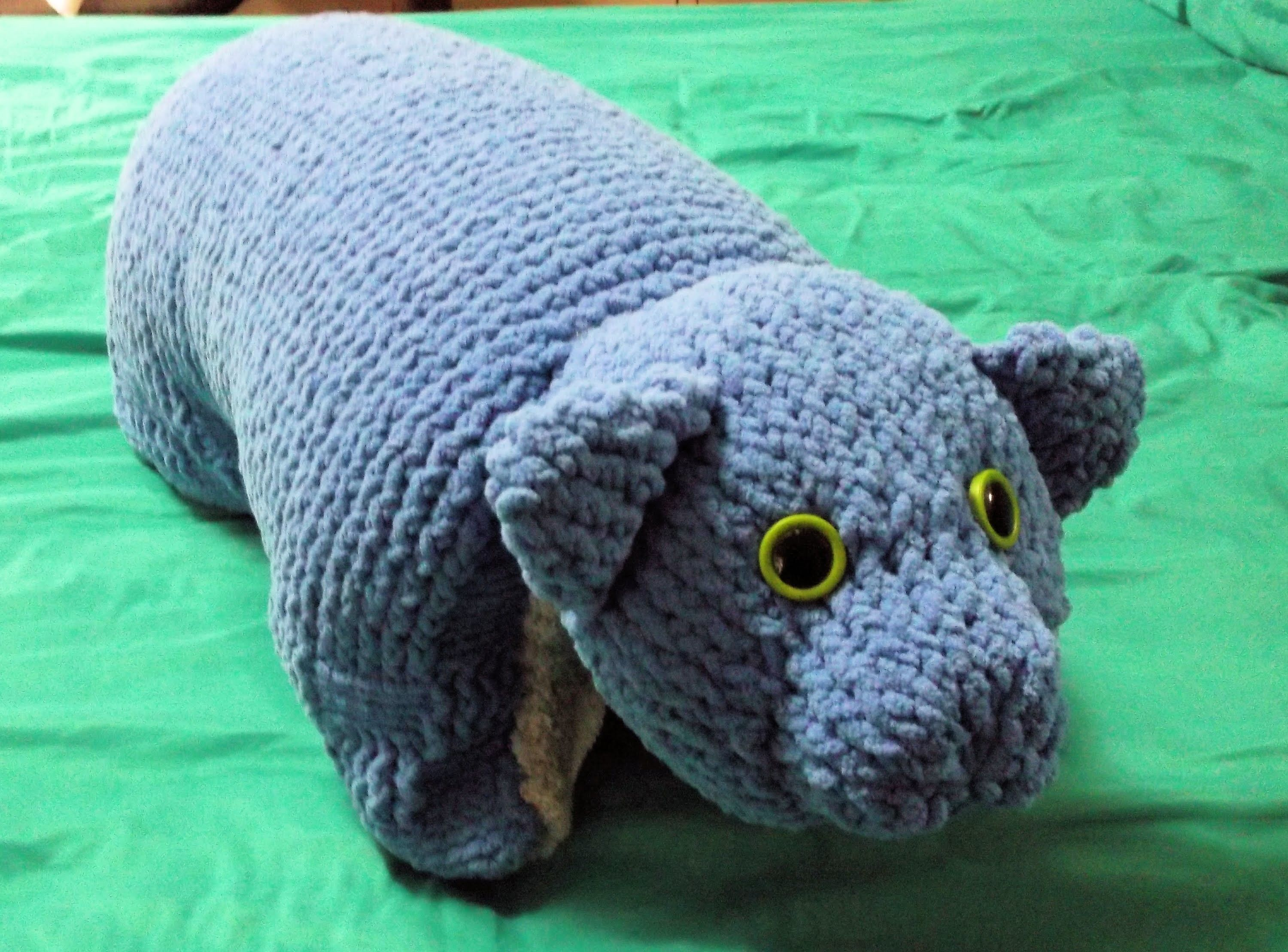 How to Loom Knit an Animal Pillow | Loom knitting, Pillows and Animal