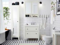 Bagno Ikea Planner : Bagno con mobile per lavabo e mobile alto con anta a specchio