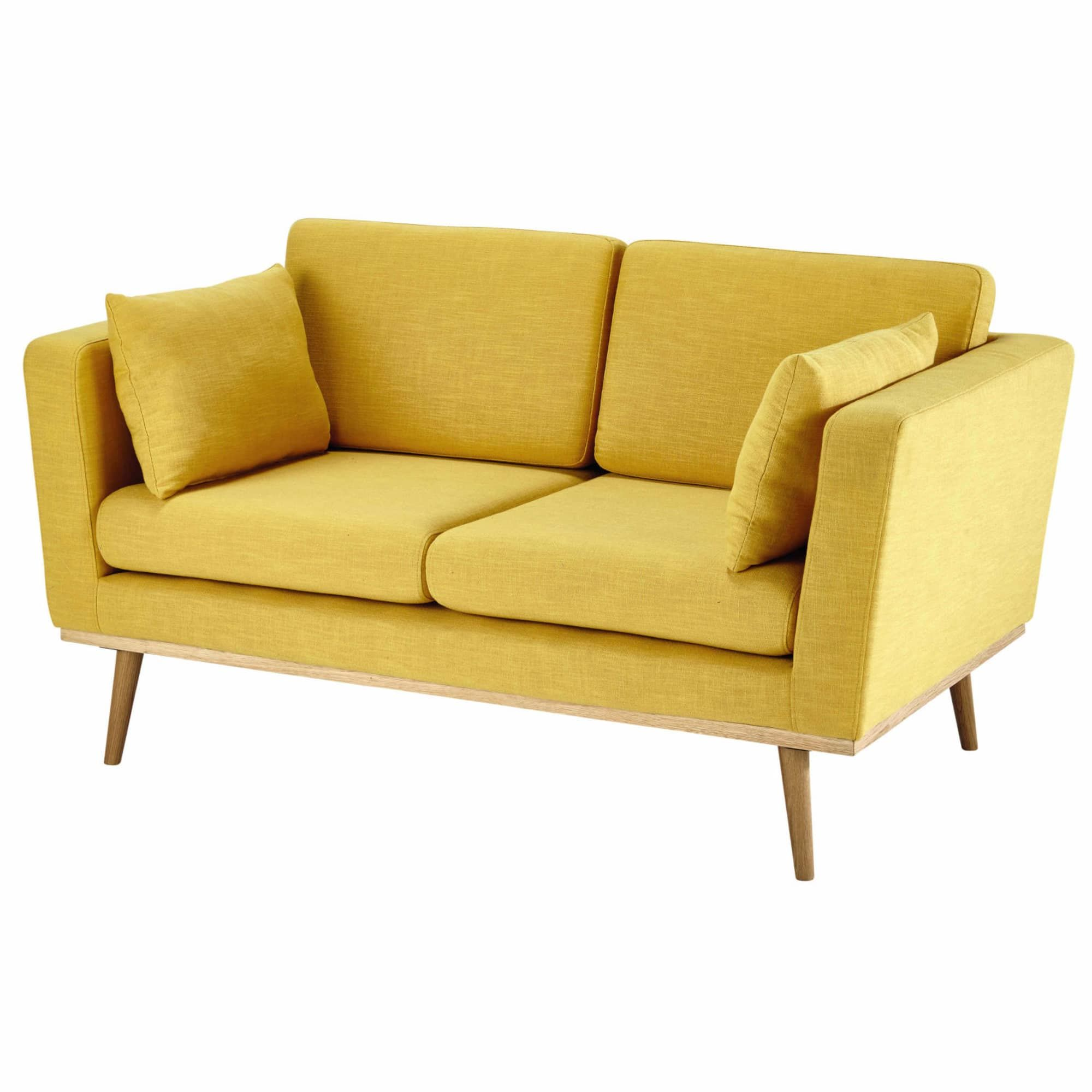 Canape 2 Places Jaune Canape 2 Places Canape Jaune Et Mobilier
