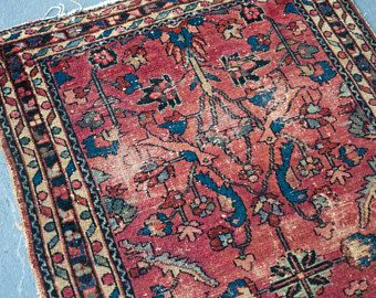 Vintage Persian Rug Lilihan Antique Rugs Worn Pink Distressed