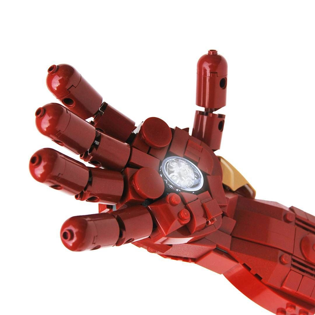 Jonas Kramm On Instagram High Five With Ironman Tony Starks Famous Repulsor Glove Built In Nearly 1 1 Scale Lego Photo Lego Photography Lego Art