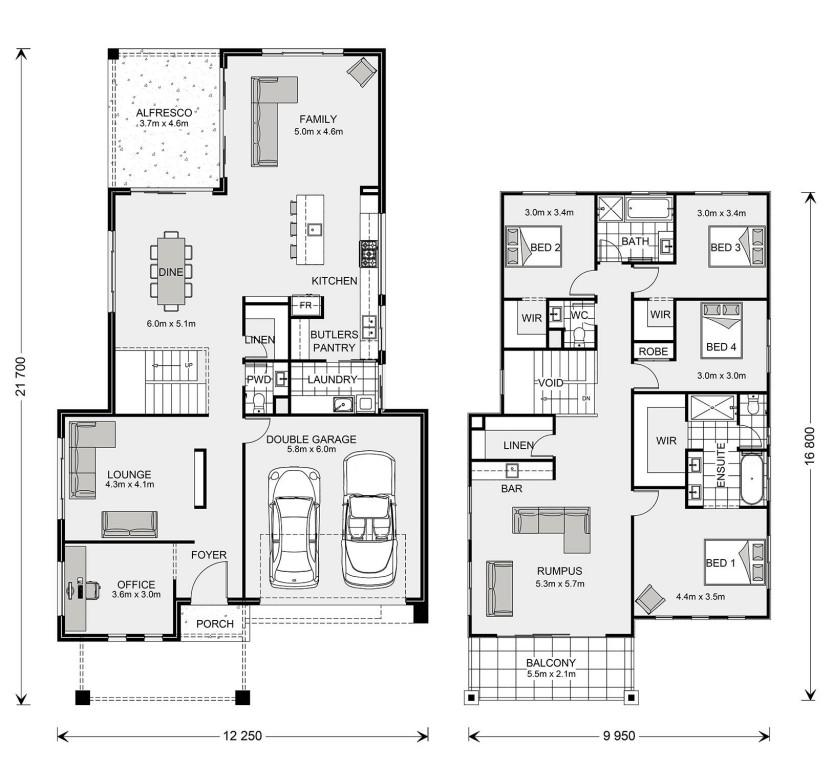 Double Story Floor Plan Seaview 344 Home Design Floor Plans House Design Custom Home Designs