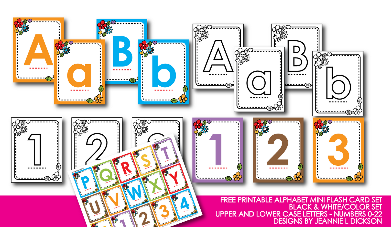 Kindergarten alphabet cards free printable alphabet mini for Educational coloring pages abc flash cards