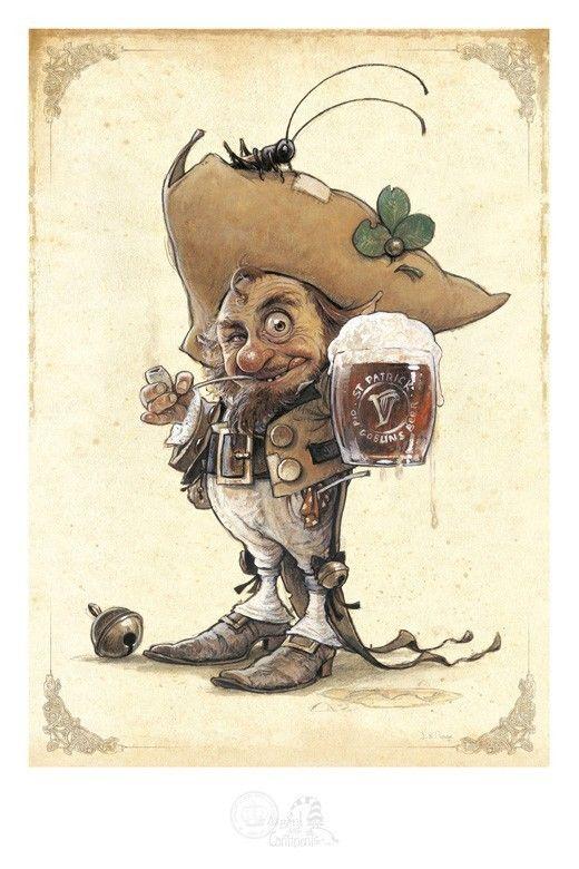 Gnomes lutins farfadets korrigans tatouages pinterest korrigan lutins et f e - Dessin elfes et fees ...