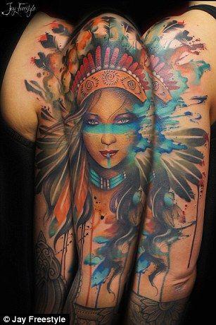 I Let Someone Tattoo Me Freehand Femail Writer Goes Under The Needle Indian Women Tattoo Tattoos Headdress Tattoo