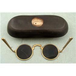 829b26de01 Vintage Chinese Glasses Case w/ Folding Sunglasses   Antique eyewear ...