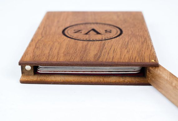 Personalized business card holder monogrammed by waldengoods items similar to personalized business card holder monogrammed wooden wallet mahogany wood wooden card holder wood credit card holder wood wallet on reheart Choice Image