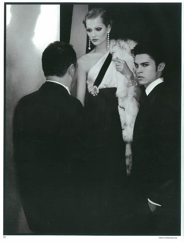 Deutsche Vogue Model: Toni Garrn und Baptiste Giabiconi Fotograf: Karl Lagerfeld Stylist: Christiane Arp Makeup: Emmanuel Sammartino Hair: Sam McKnight