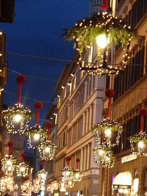 Little Christmas Italy.Florence Italy City Christmas Decorations Christmas