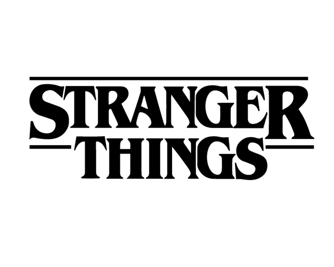 STRANGER THINGS LOGO VINYL PAINTING STENCIL SIZE PACK