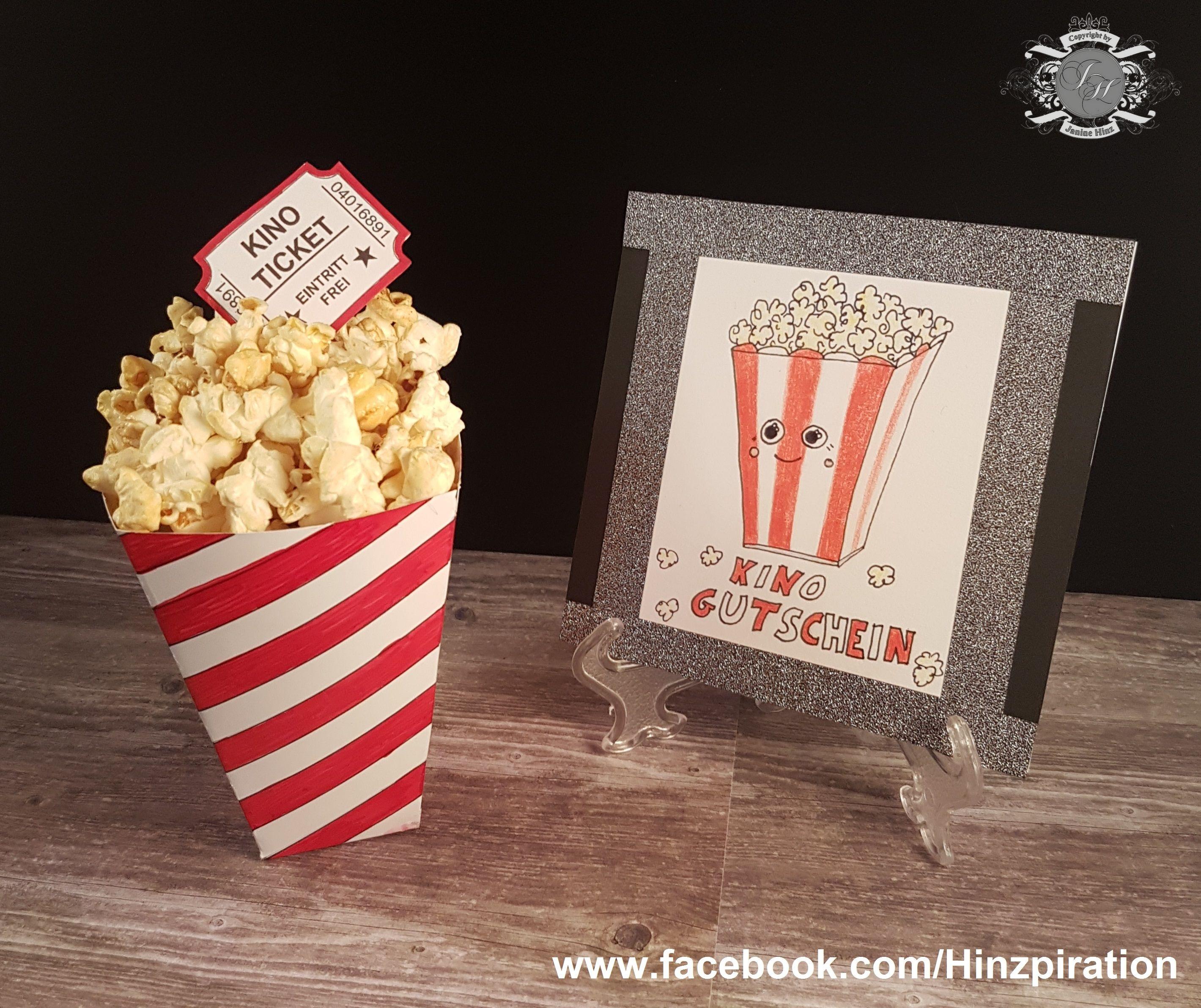 Kino-Gutschein - Popcornbox und Karte Dafür benötigt ihr eine ...