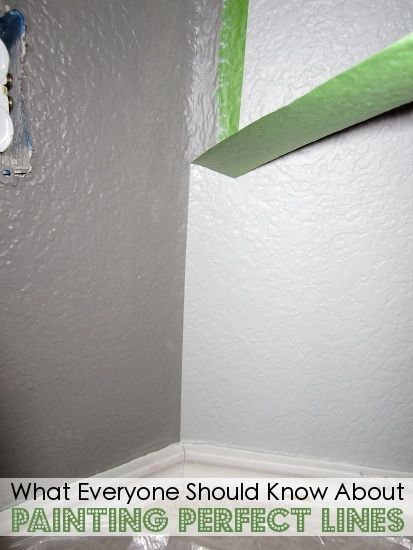 How to paint perfect paint lines every time.