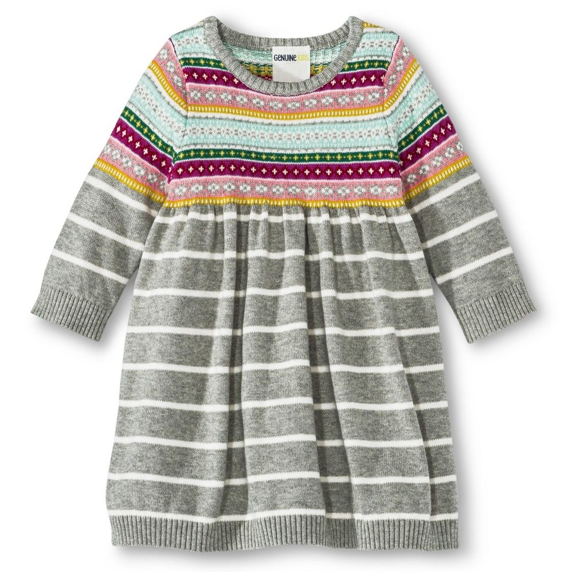 Infant Toddler Girls' Fair Isle Sweater Dress | Liv And Elsa style ...
