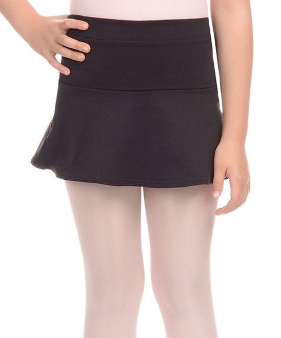Rich Black Drop-Waist Skirt - Toddler & Girls