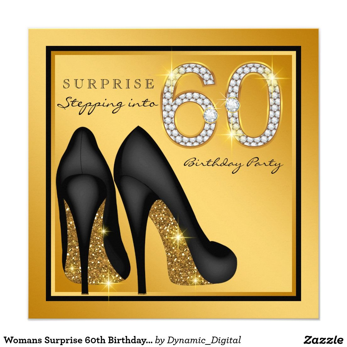 Womans Surprise 60th Birthday Party Invitation Zazzle