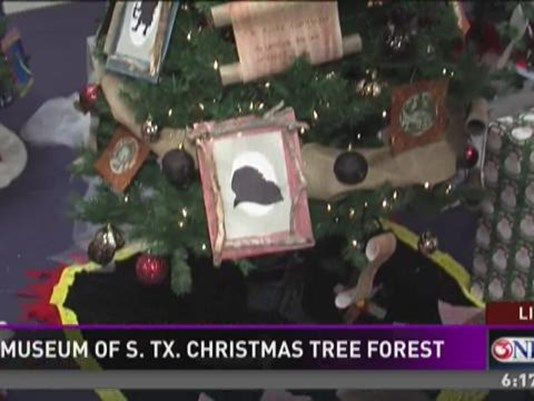 Christmas Tree Forest A Reading Wonderland On Display At Art Museum Of South Texas Christmas Tree Forest Christmas Tree Art Museum