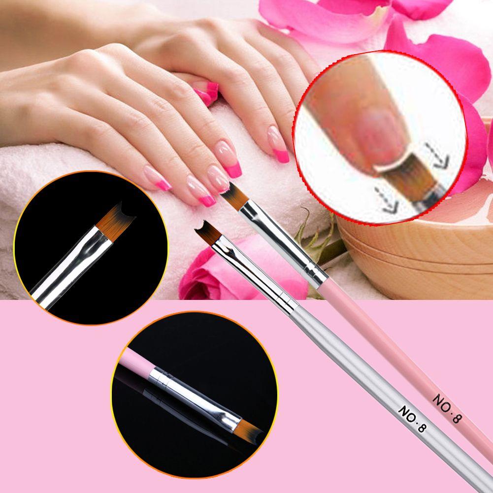 1pcs French Nail Brush Pen Acrylic Uv Polish Nail Art Gel Drawing Tools Painting Nail Art Tips D Manicure Diy Ferramentas De Desenho Dicas Para Unhas Decoradas