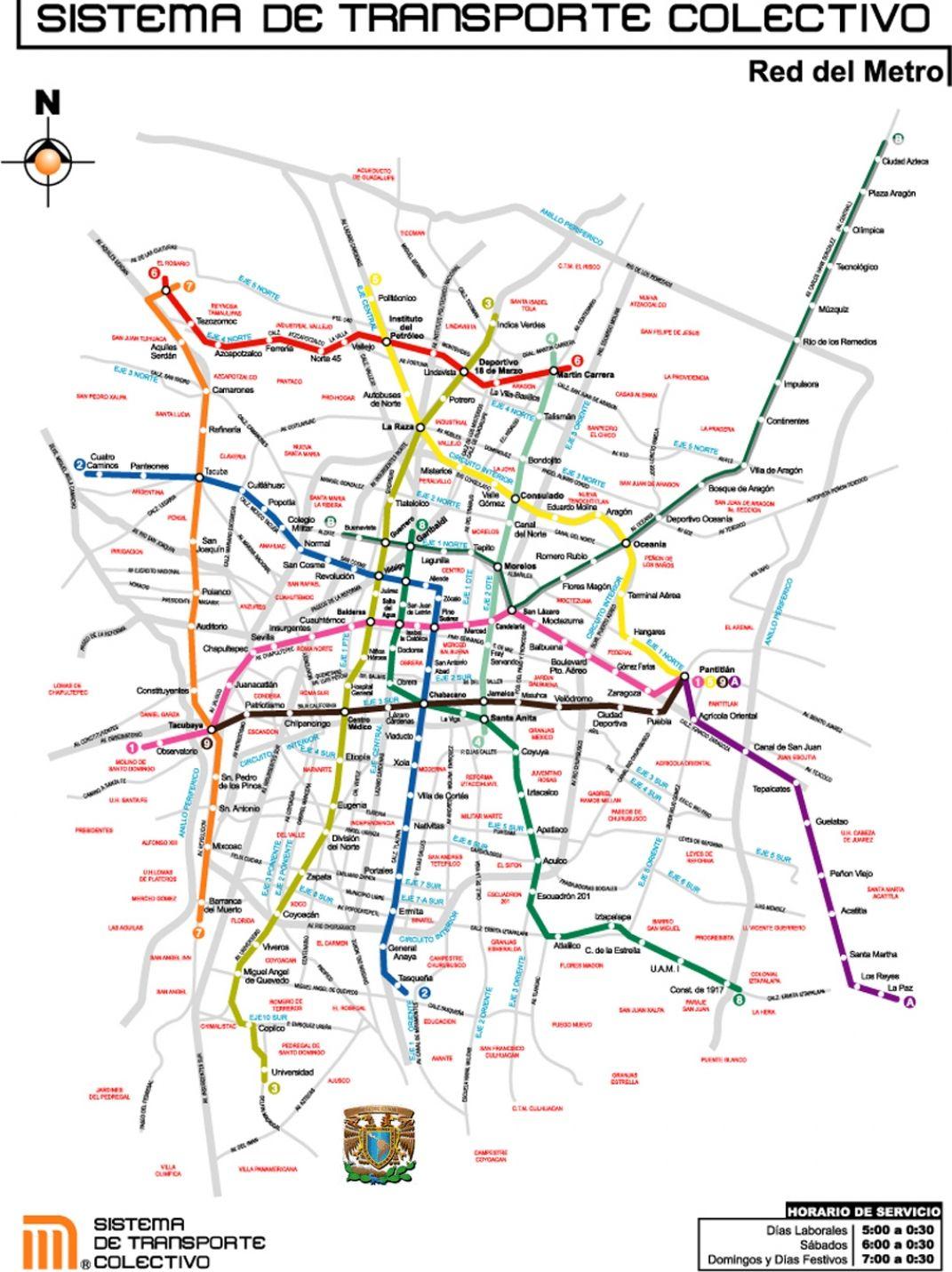 Mexico City Metro Map | Look in the glove-box... | Pinterest | Mapas ...