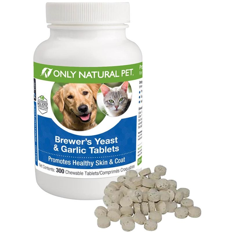 Only Natural Pet Brewers Yeast Garlic Flea Pills For Dogs Cats Natural Pet Garlic For Dogs Pets