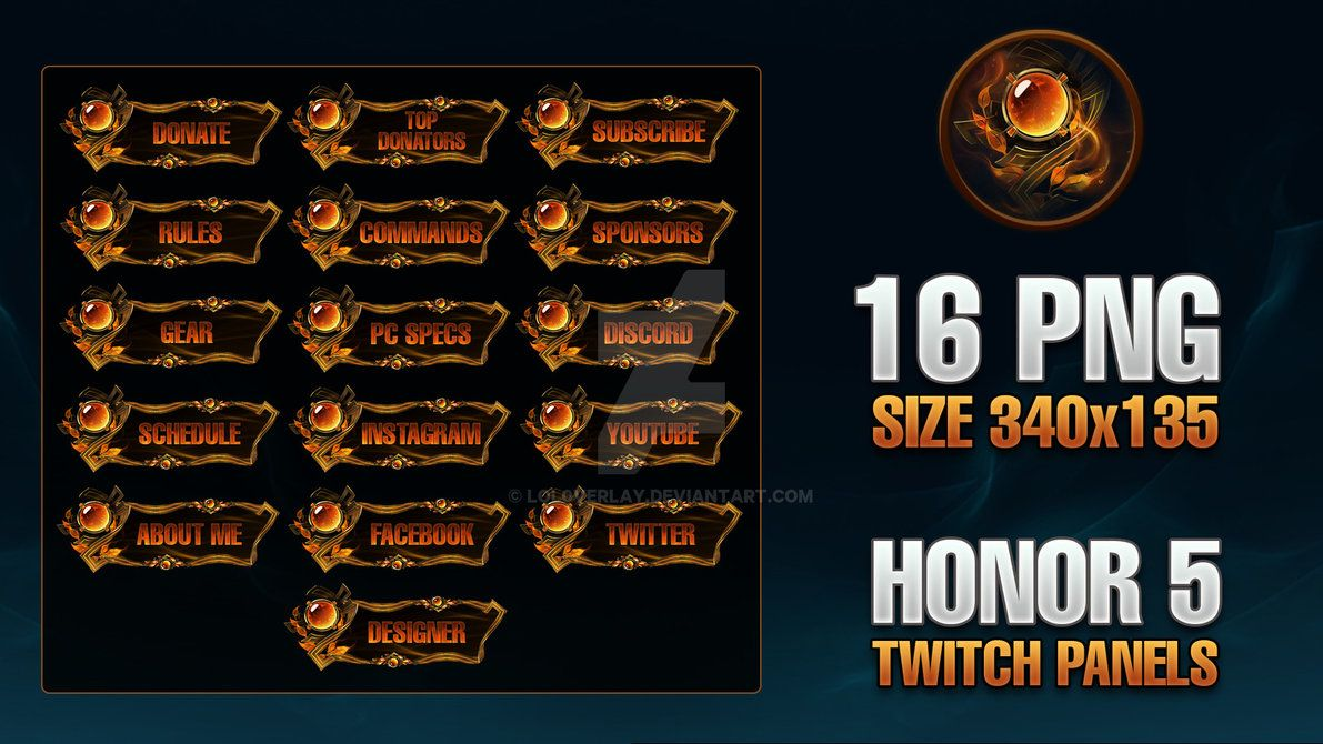 Honor 5 - Twitch Panels by lol0verlay   stream project