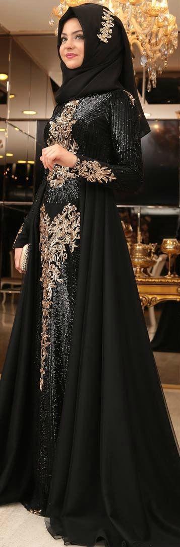 1b626b842a02f Pınar Şems - Güneş Abiye Siyah   ☙Modest Outfits/Tesettür Giyim☙1 ...